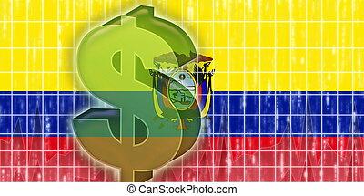 旗, 金融, エクアドル, 経済