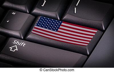 旗, 键盘