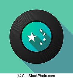 旗, 音楽, ディスク, 星, 陶磁器, 長い間, 影, シンボル, 5