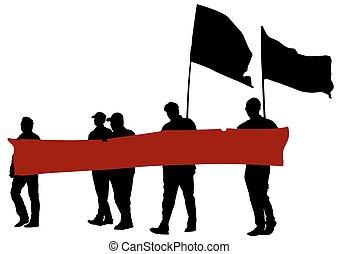 旗, 5人の人々