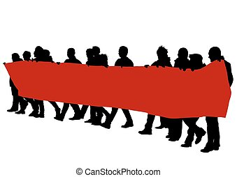 旗, 8人の人々