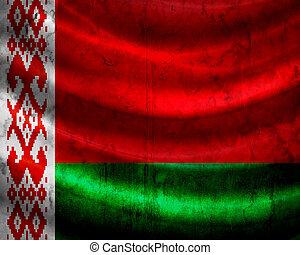 旗, belarus, グランジ