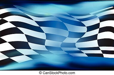旗, checkered, レース, vec, 背景