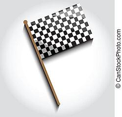 旗, checkered
