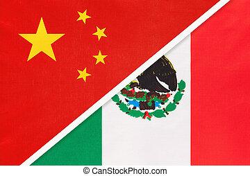 旗, countries., アジア アメリカ人, 陶磁器, メキシコ\, prc, textile., ∥対∥, ∥あるいは∥, ∥間に∥, 国民, 関係