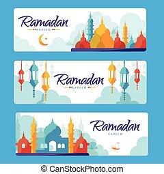 旗, ramadan, kareem
