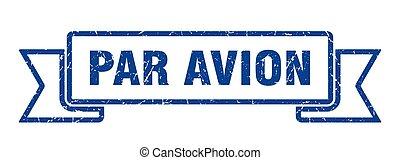 旗, ribbon., グランジ, バンド, 印。, 対 avion