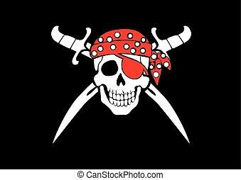 旗,  Roger, 海盜, 快活