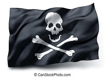 旗, roger, 海賊, とても