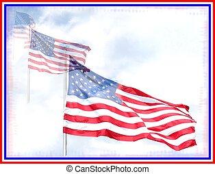 旗, star-spangled