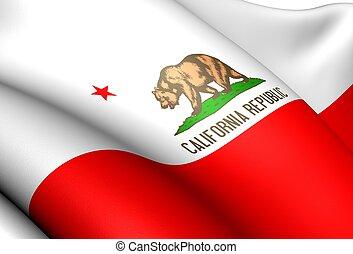 旗, usa., カリフォルニア
