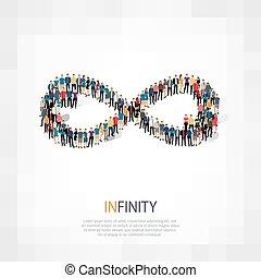 无限, 人们, 符号