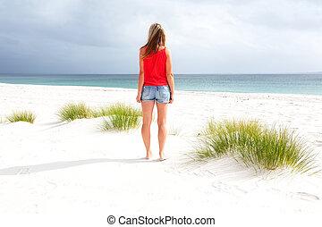 日々, 夏, 浜