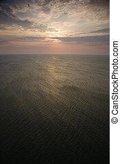 日の出, 上に, ocean.