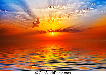 日の出, 海