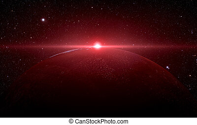 日の出, 火星