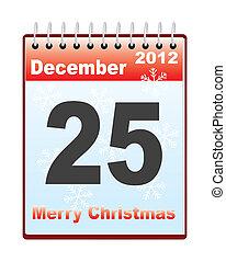 日付, カレンダー, クリスマス