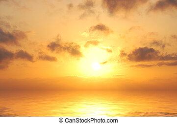 日出, 在中, 海