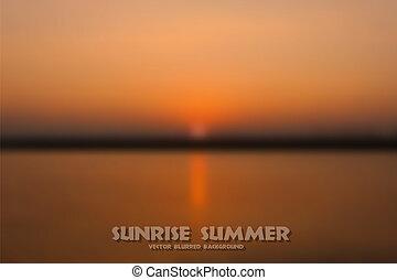 日出, 夏天