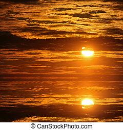 日出, 天空
