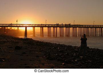 日出, 码头, ventura
