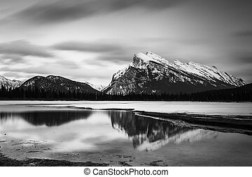 日出, vermilion, 湖
