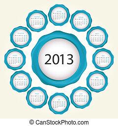 日历, 设计, 2013