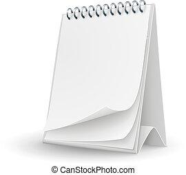 日历, 页, 样板, 空白