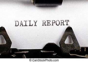 日報, 報告