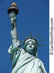 日当たりが良い, の上, 自由, ヨーク, 像, 新しい, 終わり, 日
