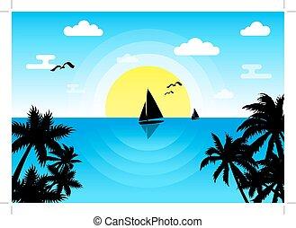 日当たりが良い, 海