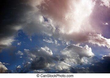 日当たりが良い, 空, 曇り