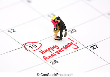 日曆, 概念, 週年紀念, 愉快