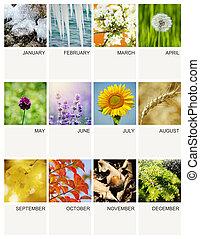 日曆, 樣板