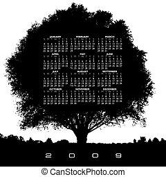 日曆, 樹