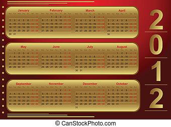 日曆, 2012