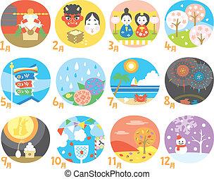 日本語, カレンダー