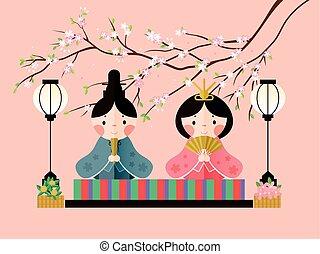 日本語, 人形, 祝祭, デザイン