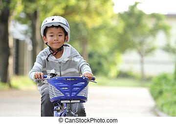 日本語, 男の子, 乗馬, 上に, ∥, 自転車, (first, 等級, ∥において∥, 基本, school)