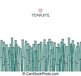日本語, bamboo., 背景, テンプレート