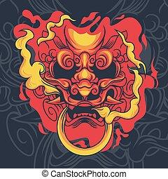 日本語, mytological, 獣, ベクトル