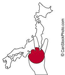 日本, シグナル, 手
