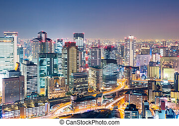 日本, 大阪, 黃昏
