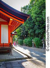 日本, 庭, maruyama, 京都, 寺院