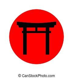 日本, icon.eps, torii のゲート