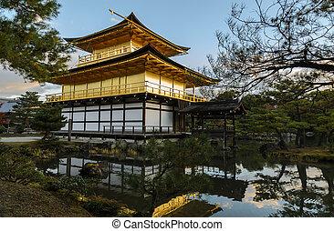 日本, kinkakuji, 寺院, 京都