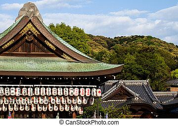 日本, yasaka, 神社, 京都