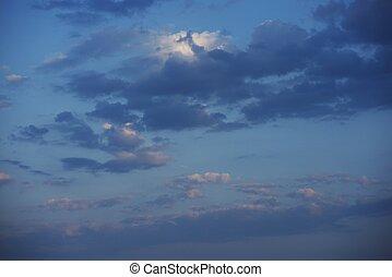 日没の 空, 冷静