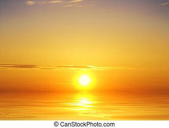 日没の 空, 背景