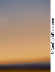 日没, かすんでいる, 地平線